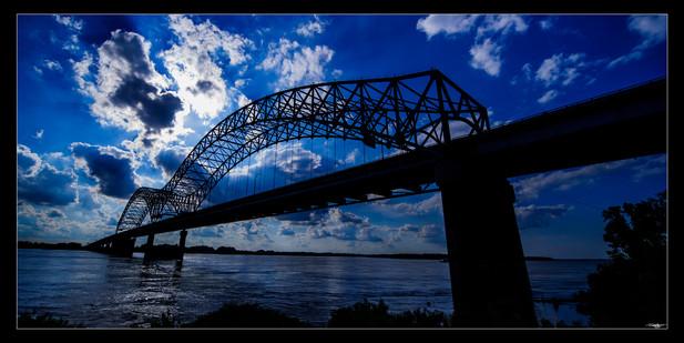 020 Blue Bridge Sunset-Memphis Photograp