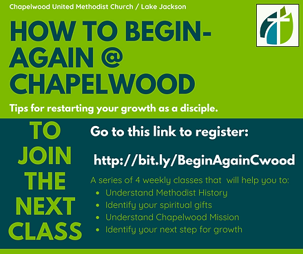 How to Begin-Again @Chapelwood - Specifi