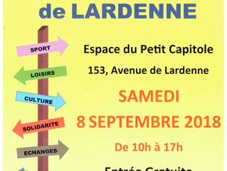 Samedi 8 septembre forum des associations de Lardenne