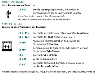 TELETHON: programme Pradettes/Lardenne