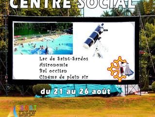 Centre social - les activités du 21 au 26 août
