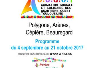 Les activités du centre social sept/octobre