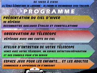 CLUB D'ASTRONOMIE - première soirée