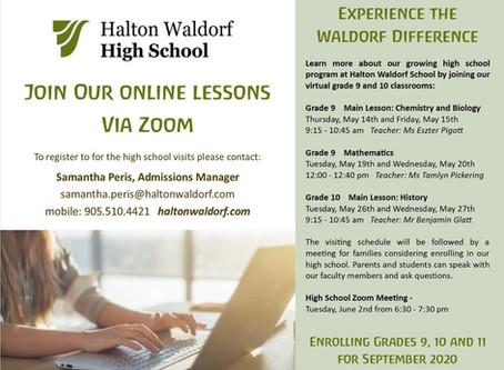 High School Virtual Visits