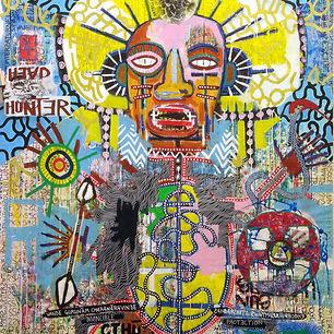 Pierre Ziegler | Zoole | Paintings | Moon rap page 03 | The head hunter