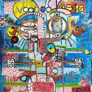 Pierre Ziegler | Zoole | Paintings | Moon rap page 03 | Alien's song