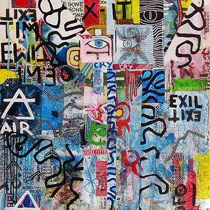 Pierre Ziegler | Zoole | Paintings | Moon rap page 02 | Plane is gone