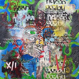 Pierre Ziegler | Zoole | Paintings | Moon rap page 02 | A girl with kaleidoscope eyes