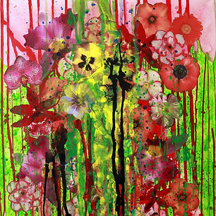 Pierre Ziegler | Zoole | Paintings | Flowerz | Red I