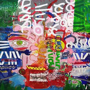 Pierre Ziegler | Zoole | Paintings | Moon rap Alpha | Funny Kat II