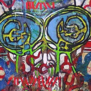 Pierre Ziegler | Zoole | French atist | Contemporary painting | Ground Zero | Instant noodles alien