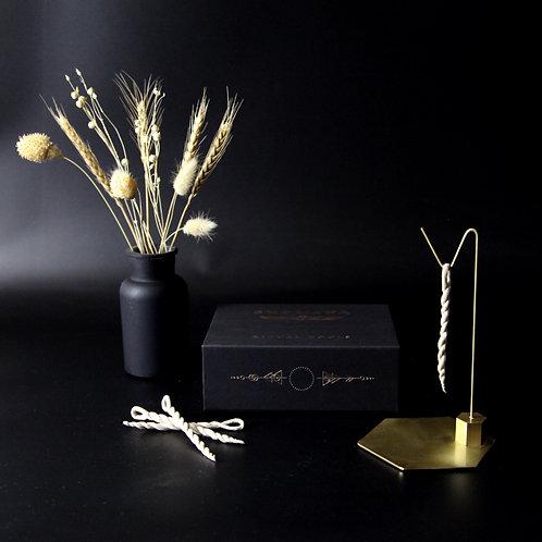 HEXAGON BRASS STAND - Incense Kit