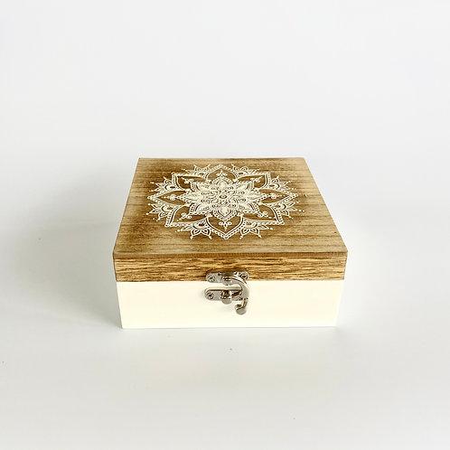 WOODEN MANDALA BOX - SMALL