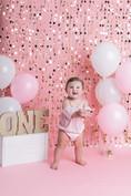 pink smash cake birthday photography andrea davis photography