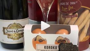 Huevo trufado al nido @koroko.es con queso Arzua Ulloa y jamón ibérico.