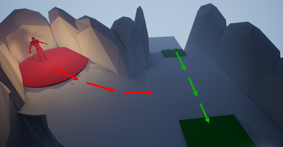 After making it inside the cave, players enter the final escape sequence