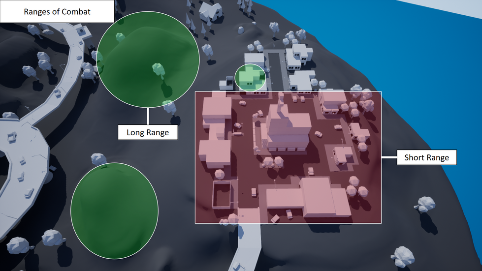 Players can make use of long range combat at the over-seeing hills on the outskirts or taking hold of an upper floor window. Whilst short range combat will dominate the towns streets and interiors