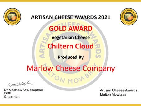 Gold and Silver at Artisan Cheese Awards