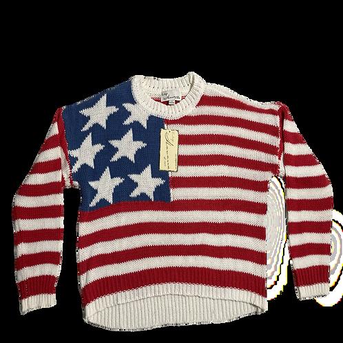 Vintage Havana Flag Knit Sweater