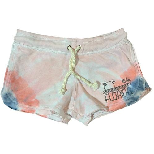 Lounge Drawstring Tie Dye Shorts