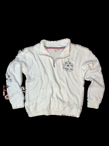 Ft Hibiscus Quarter zip pullover