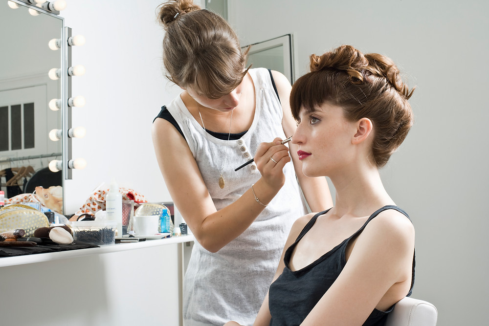 Bridal hair and makeup services done on location