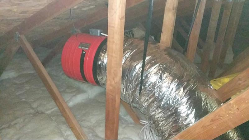 Murrieta, Ca whole house fan Installation