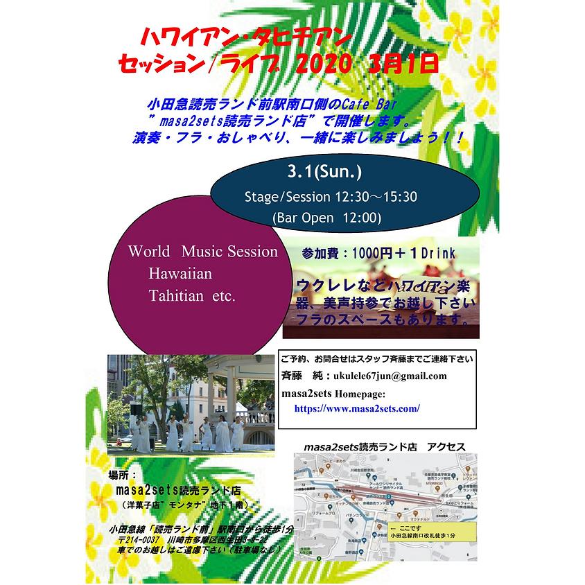 ハワイアン・タヒチアン セッション/ライブ
