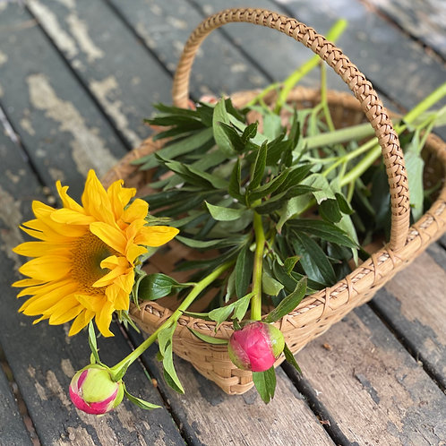 Braided Handle Gathering Basket