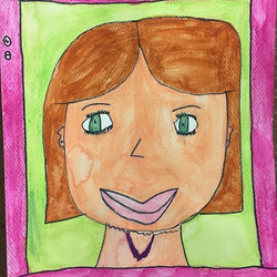 Selfies are the new self-portrait! #raleighkids #artcamp #raleigh #painting #watercolor