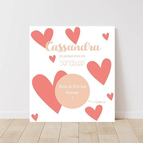 Carte à gratter Coeur