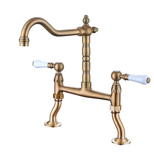 Antique kitchen tap Adriatico bronze