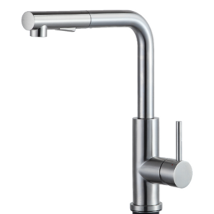 Stainless steel kitchen tap Mauro