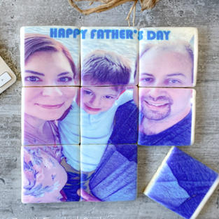 Mosaic Father's Day Decorated Cookies