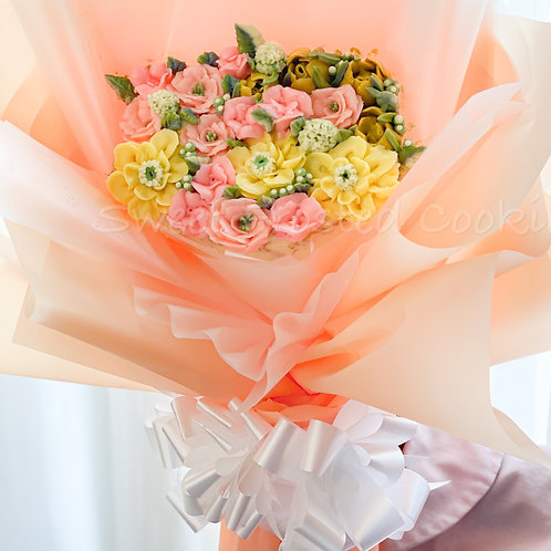 Customizable Cake Bouquet of Flowers