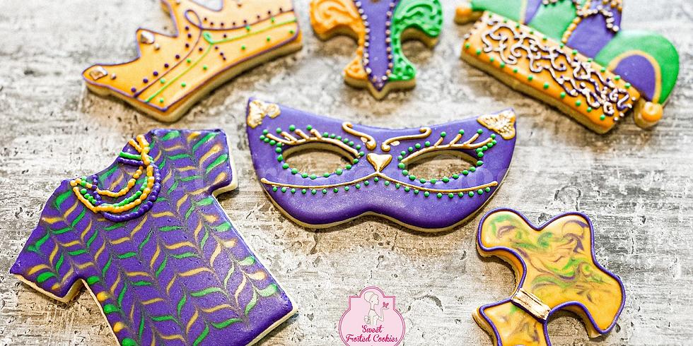 Masquerade Mardi Gras Cookie Decorating Class