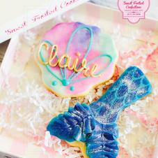Organic Mermaid Tail & Seashell Decorated Cookies