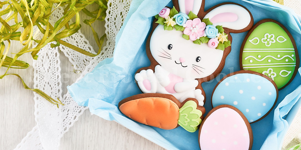 Happy Easter in a Gift Box Decorated Cookies (FW)