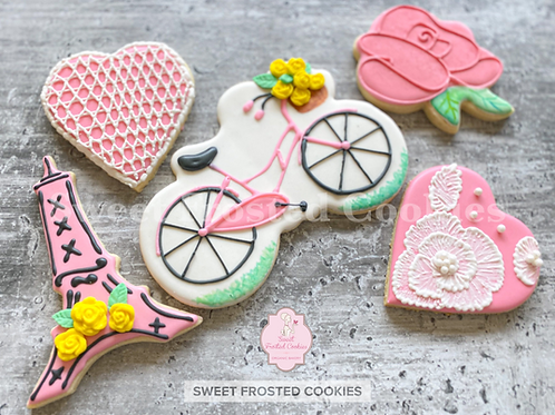 Virtual Live & Kit Galentines Cookie Decorating Class Bundle