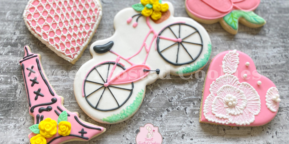 Live Virtual Parisian Inspired Galentines Day Cookie Decorating Class