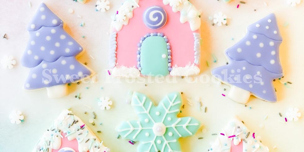 Make Royal Icing & Decorate Winter Wonderland Cookies