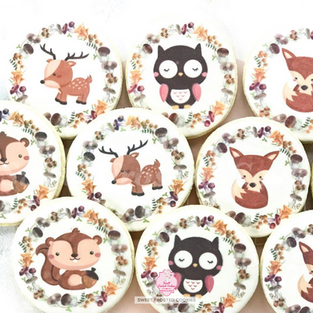 Woodland Inspired Decorated Cookies