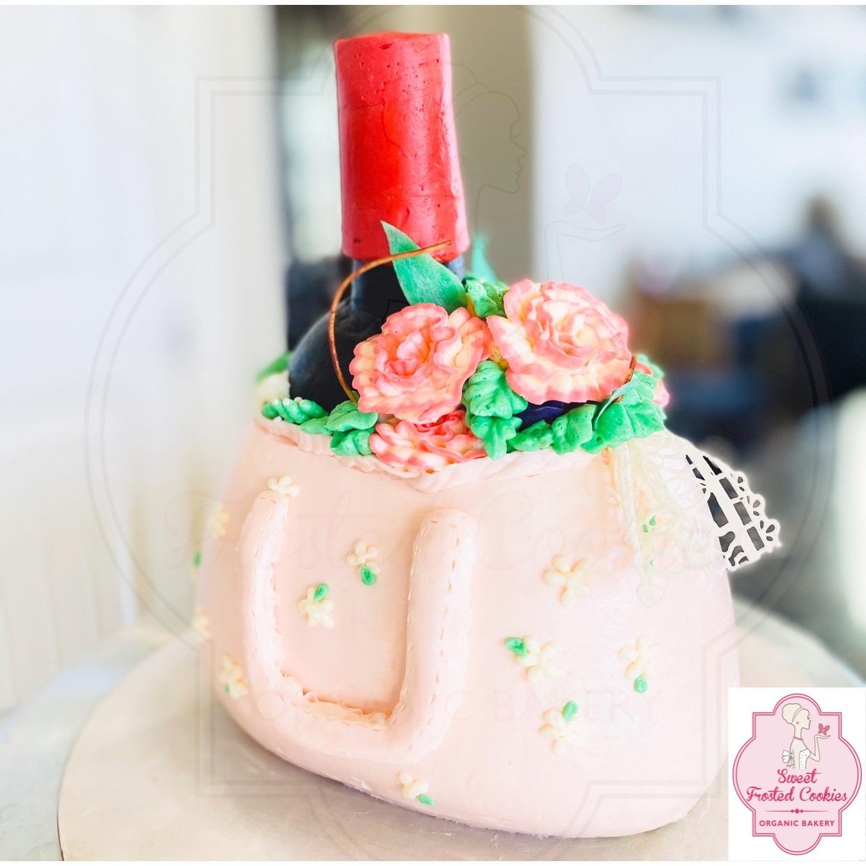 Wine purse cake