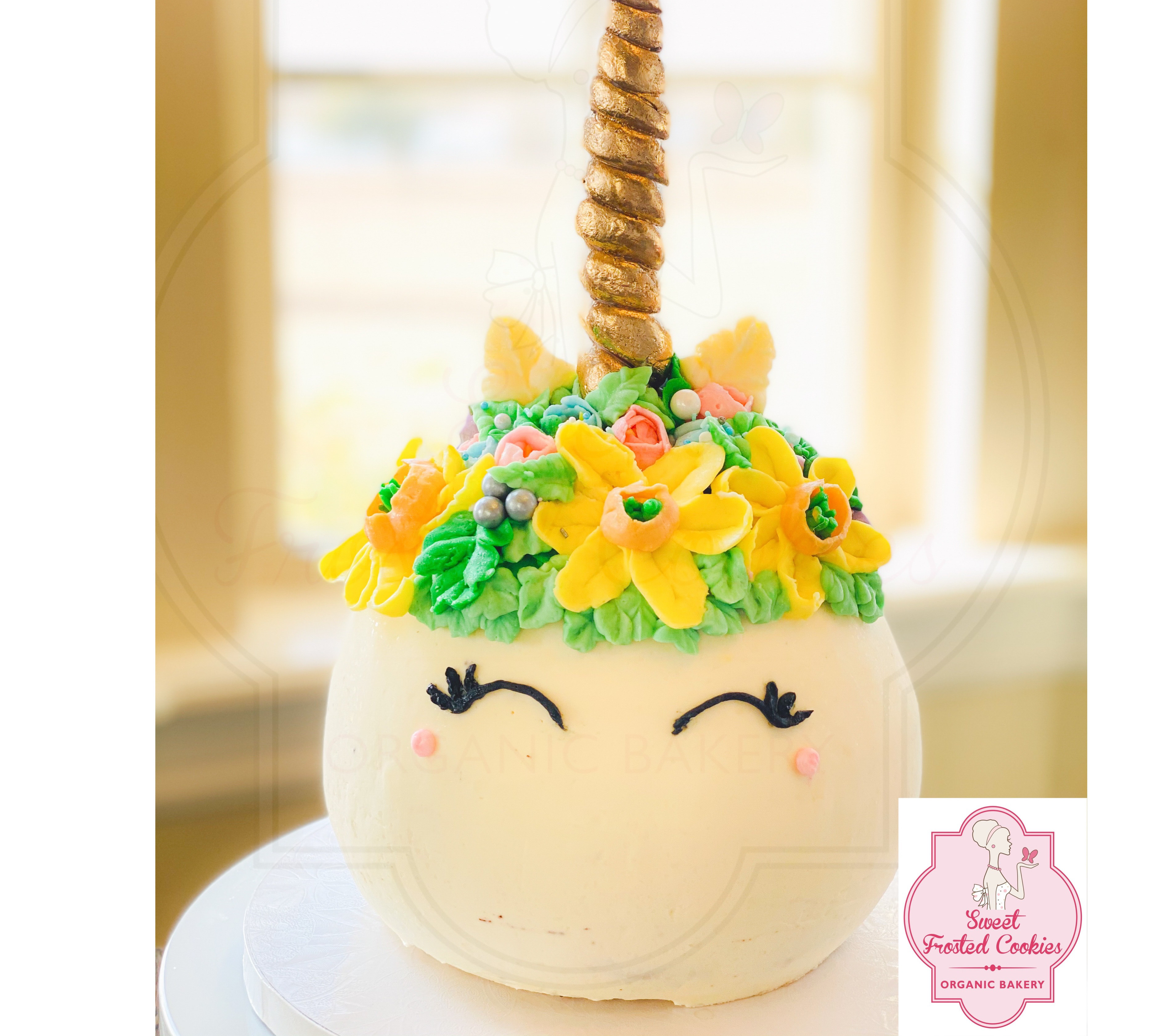 Sphere Unicorn Cake