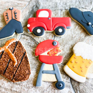 Cowboy Inspired Decorated Cookies