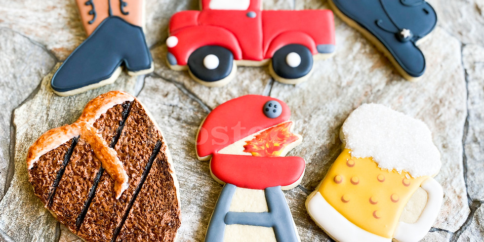 Live Online Father' Day Cowboy Style Cookie Decorating Class (1)