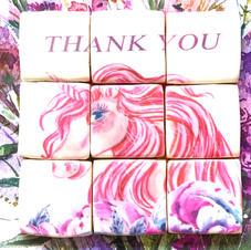 Mosaic Unicorn Decorated Cookies