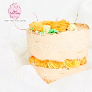 Fault Line Roses Inspired Cake