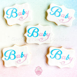 Baby Gender Reveal Decorated Cookies