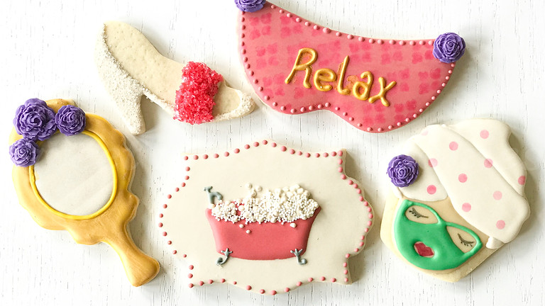 Ladies Spa Day Cookie Decorating Class